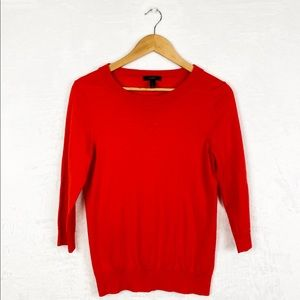 J. Crew Orange Tippi Crew Sweater